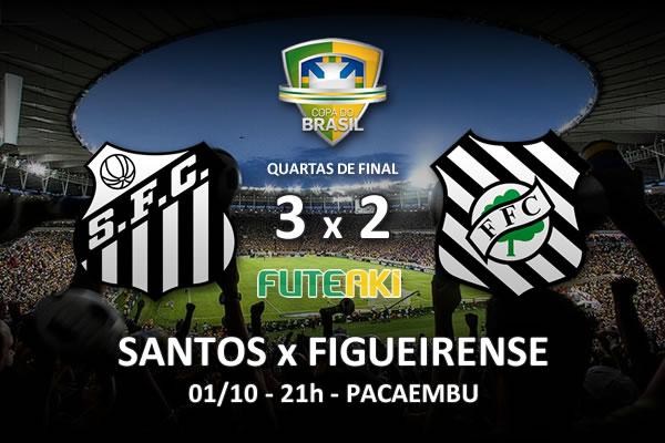 Veja o resumo da partida com os gols e os melhores momentos de Santos 3x2 Figueirense pelas quartas de final da Copa do Brasil 2015.