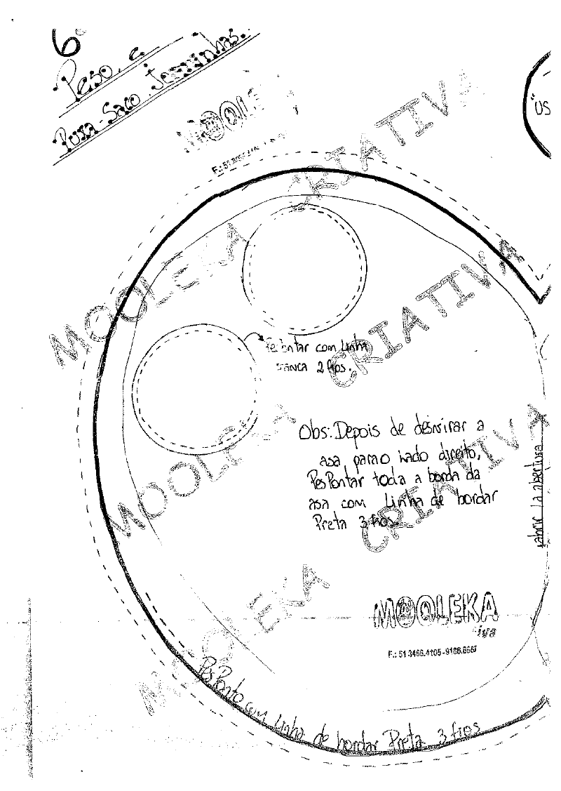 Moldes peso para porta de joaninha