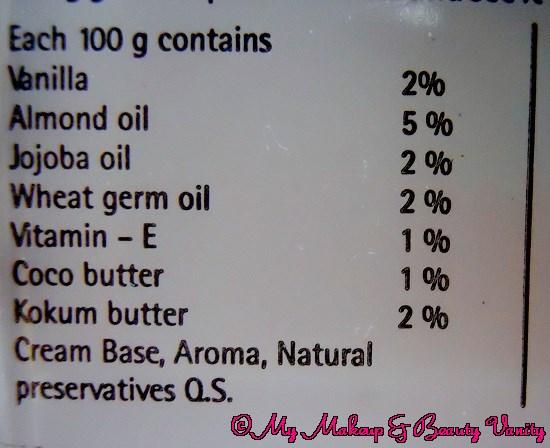 The Nature's Co. Vanilla - Vitamin E Face Cream Review+Vitamin E Face Cream
