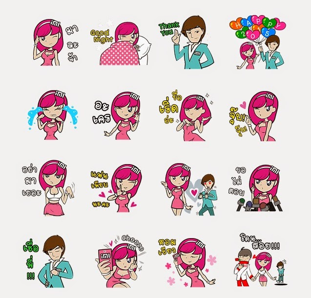 Mr. i & Miss. MiMi  stickers