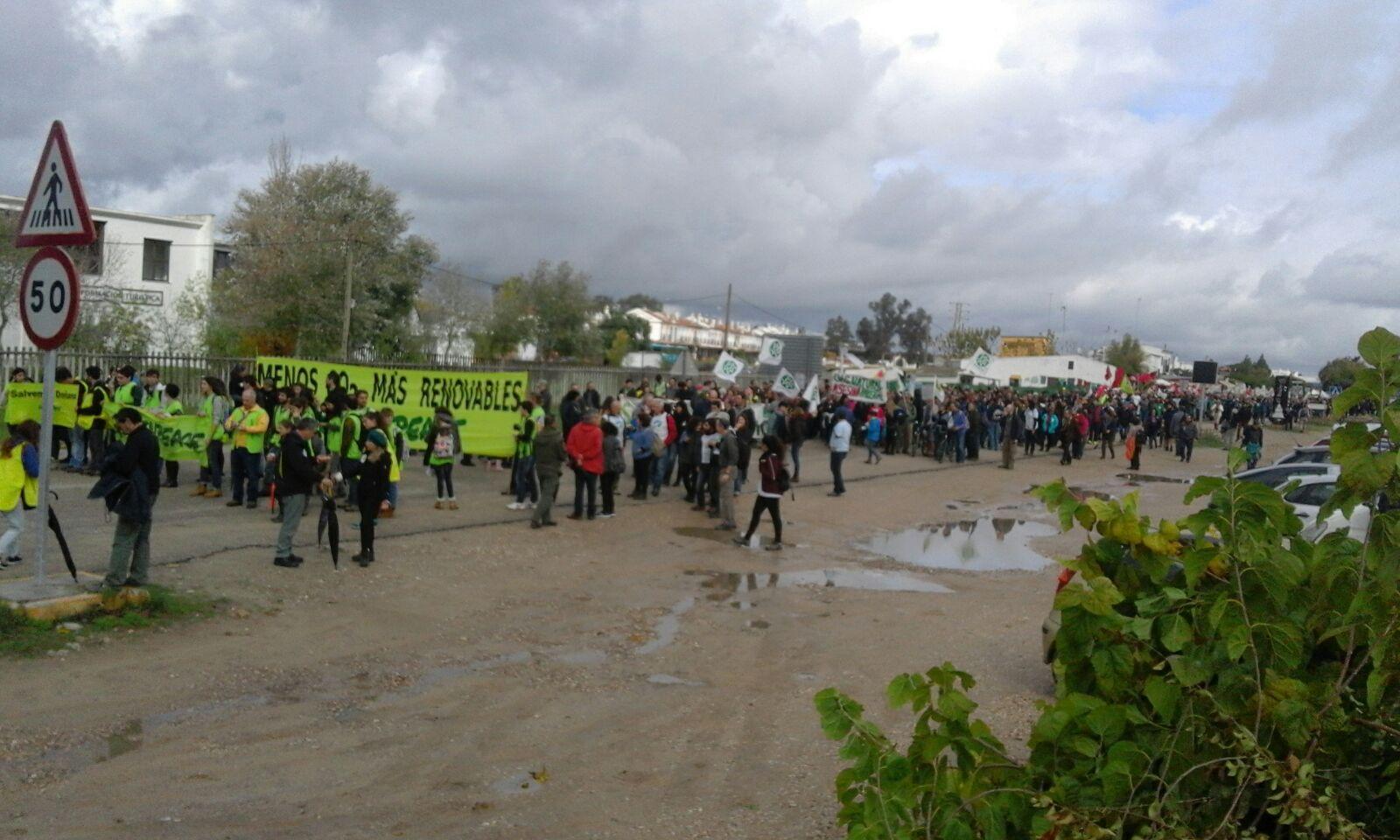 MANIFESTACIÓN 26N EN DEFENSA DE DOÑANA. Pincha en foto para ver vídeo de la acción de Flo6x8.