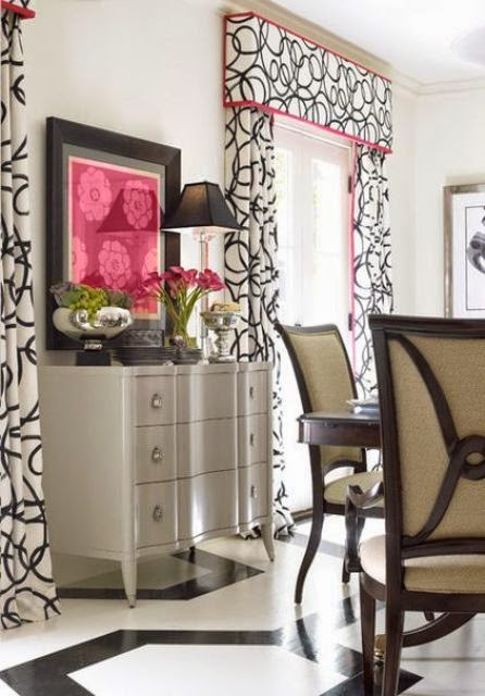 a patterned one for a one-colored room