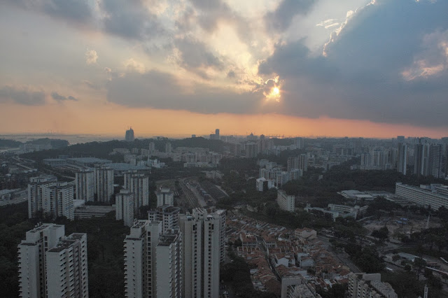 Duxton pinnacle sunset