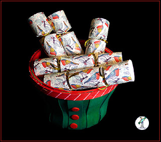 "Christmas Crackers - ""Christmas Birds' design"