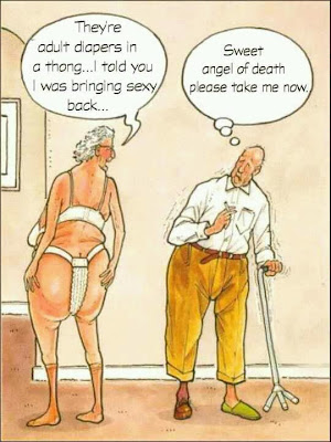 Funny Sexy Diapers Old Couple Picture Joke