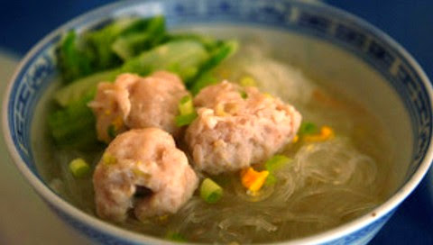 Fish Ball Soup with Glass Noodles