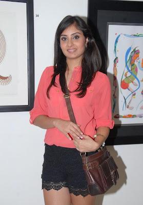 Pretty Bhanu sri mehra hot stills in lace micro mini shorts