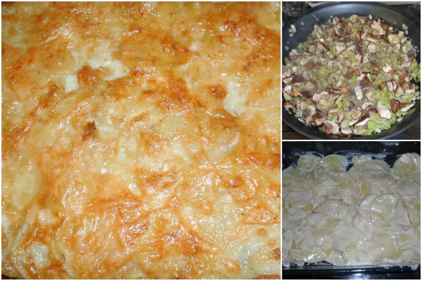 My Italian Grandmother: Potato and Mushroom Gratin with Gruyere