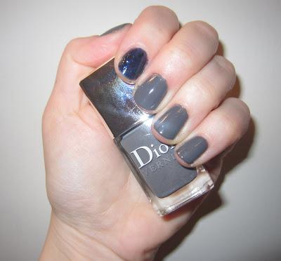 Dior, Dior Gris Montaigne, Dior Vernis, Deborah Lippmann, Deborah Lippmann Nail Polish, Deborah Lippmann Across the Universe, mani, manicure, mani of the week, nail, nails, nail polish, polish, lacquer, nail lacquer