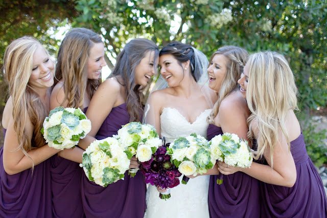 Purple Bouquet with Purple Succulents