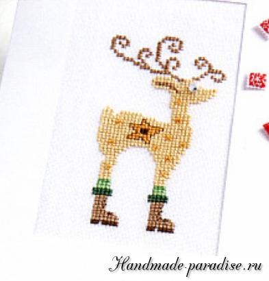 Схемы вышивки рождественского оленя
