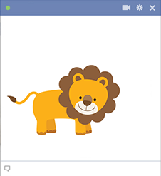 Lion sticker for Facebook