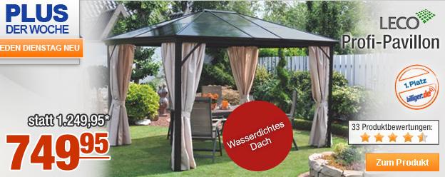 schn ppchen spion netzdealer leco profi pavillon f r nur 749 95 euro statt 1249 95. Black Bedroom Furniture Sets. Home Design Ideas