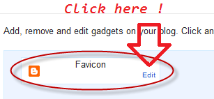 Add or Change new Favicon on Blogger