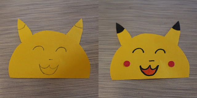 face pikachu marque page Pikachu DIY back to school