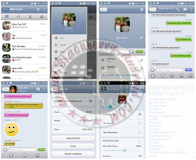 Ubdate BBM Mod Tema Mirip iyOS V3 Terbaru Versi 2.10.0.31 Apk