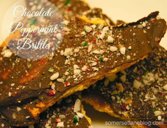 ... somerset lane shared her yummy chocolate peppermint brittle recipe
