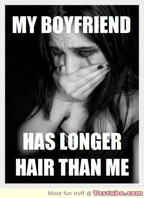My Boyfriend has longer hair than me
