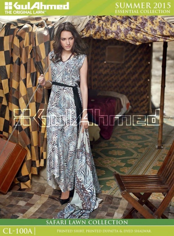 Safari Lawn Summer Collection by Gul Ahmed 2015 7