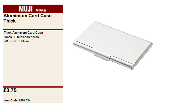 Rhea le riche muji must haves pro kit for Muji business card holder