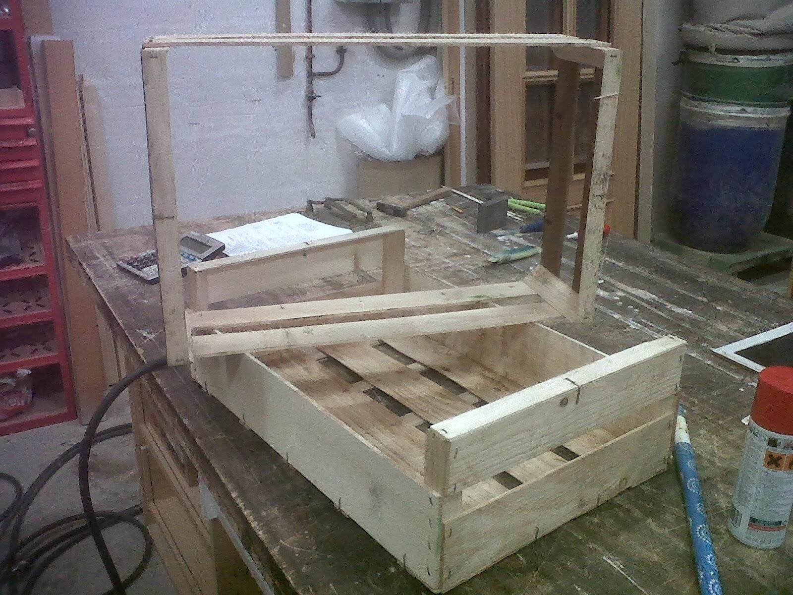 Como hacer un carrito con 2 cajones de fruta - Cajones de fruta de madera ...