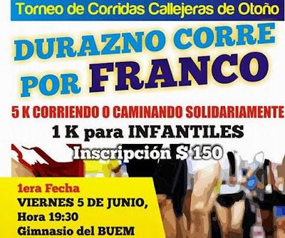 5k Durazno corre por Franco (inicio: 05/jun/2015)