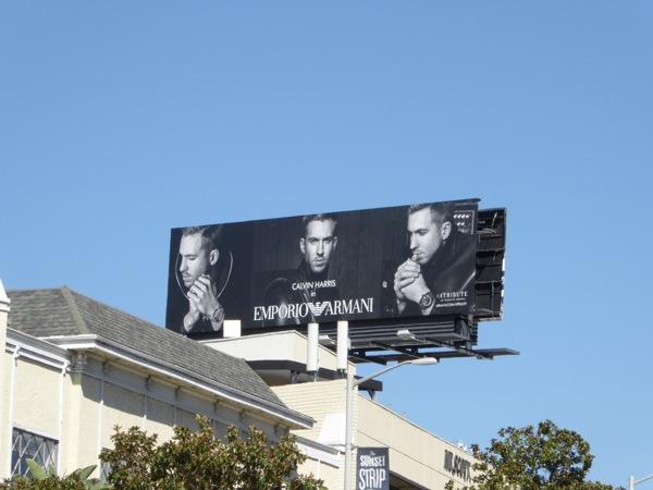 Calvin Harris Emporio Armani FW15 billboard