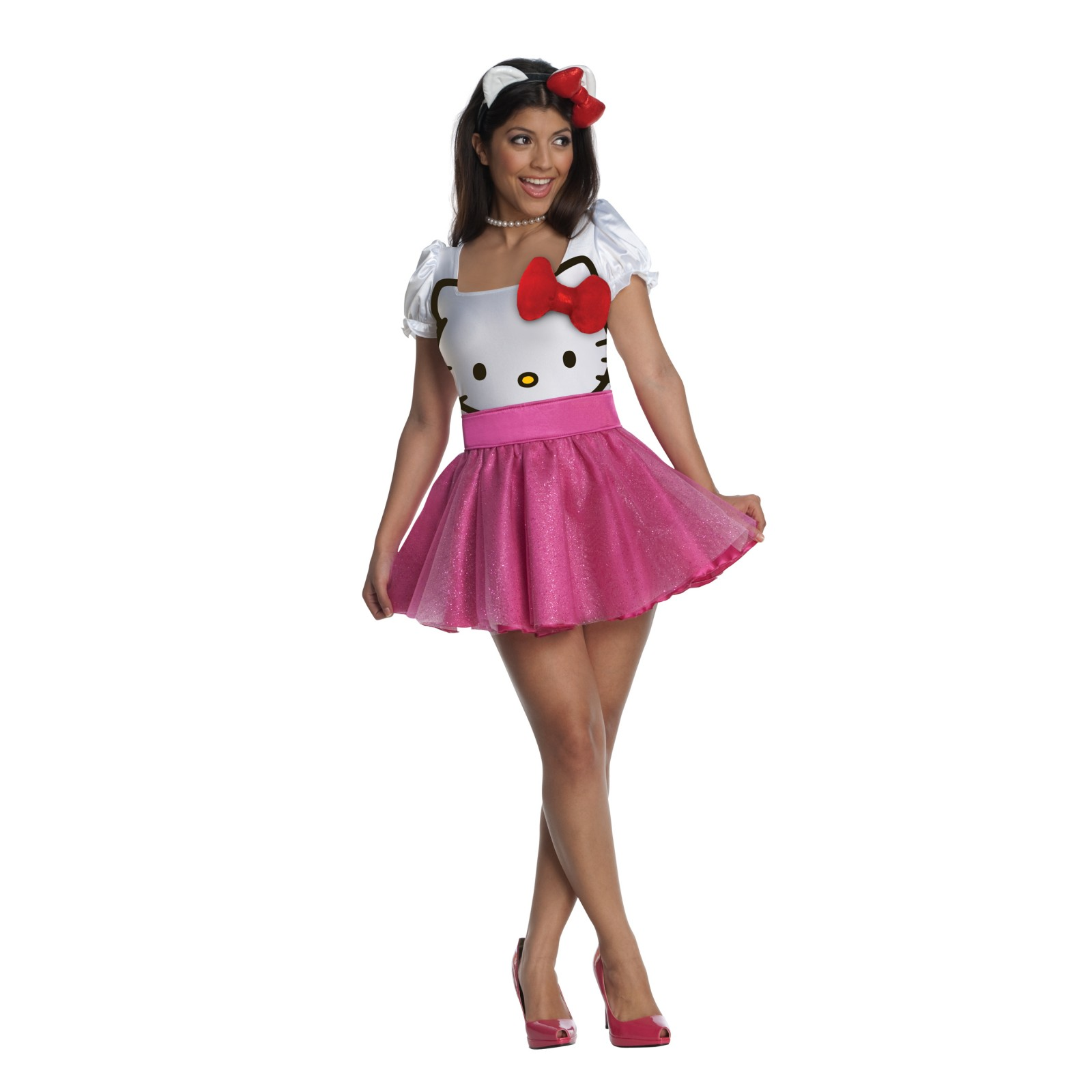 hello kitty first up on my list of costumes is one of hello kitty its super cute for halloween because not only is it girly but who doesnt like hello