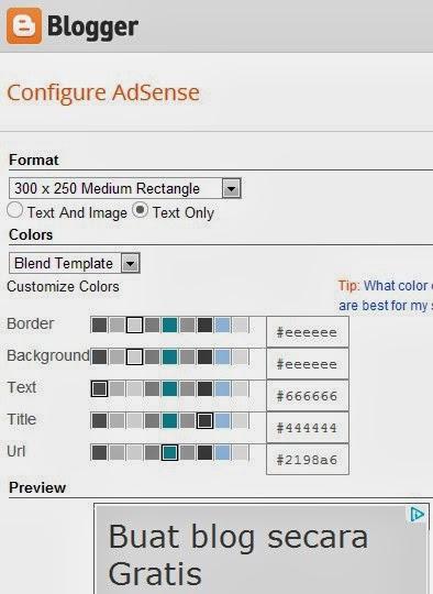 Edit Tampilan Google Adsense