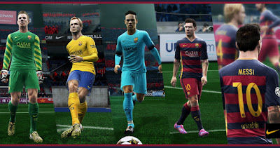 PES 2013 Barcelona 2015-16 Kits With New Font By Abdallah El Ghamry