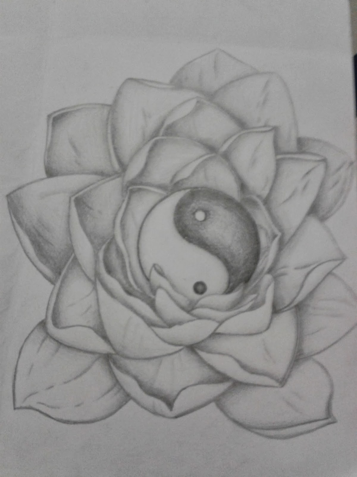 R3dwall art lotus floweryin yang tattoo design these are the tattoo designs i was talking about that i got paid for the customer wanted a lotus flower with a yin yang to represent the equality and izmirmasajfo