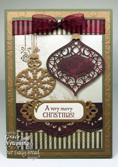 ODBD Stamps, Jingle Bells, ODBD Custom Fancy Ornament Dies, Grace Nywening designer