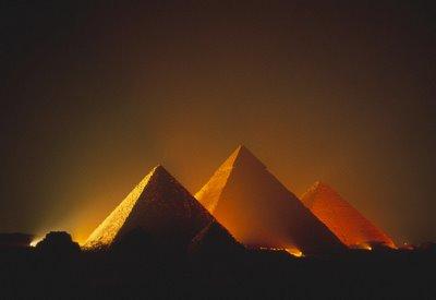 Encyclopedia Great Pyramids Of Giza At Night