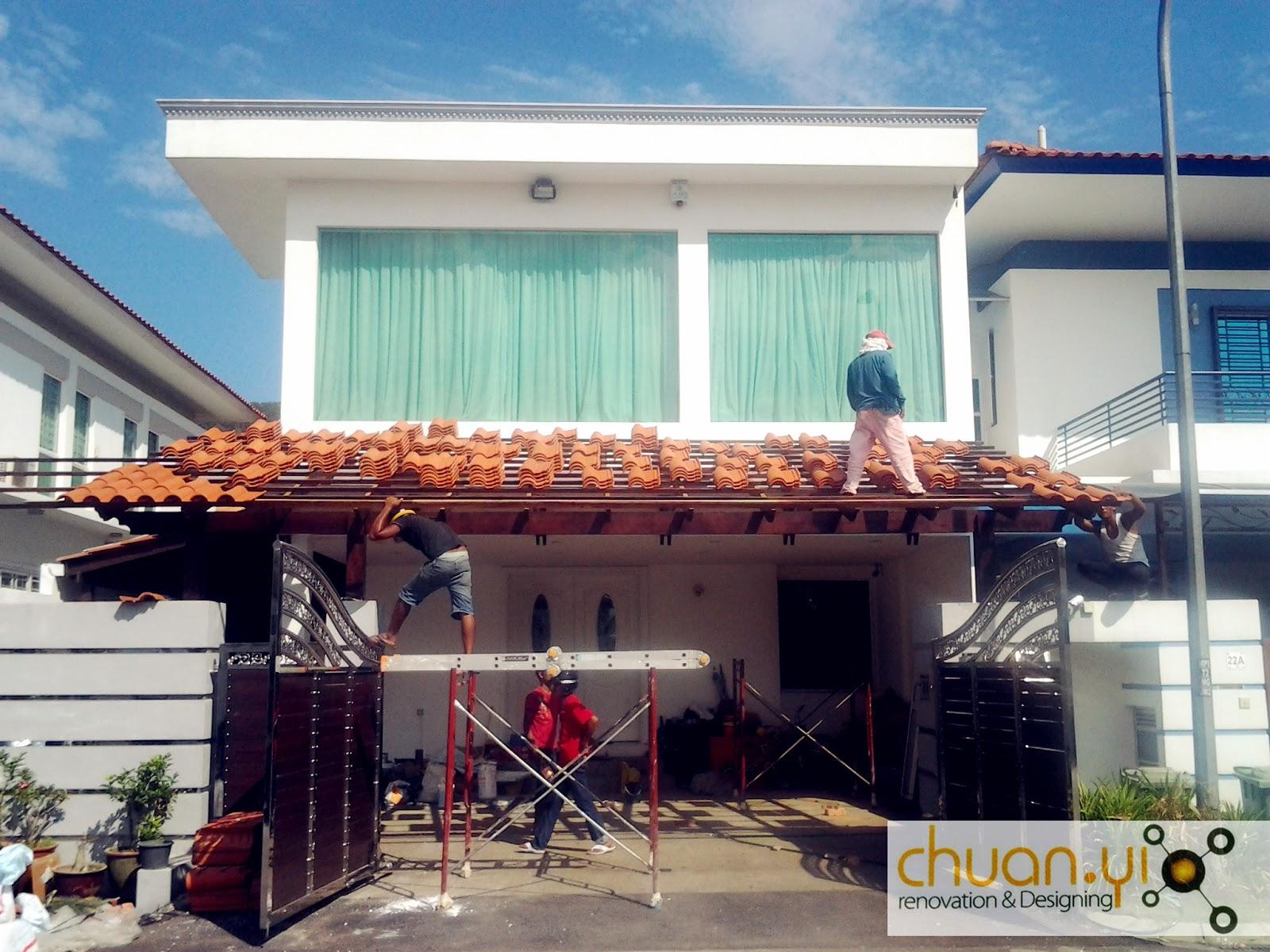 Chuan Yi Construction & Renovation Sdn Bhd: Car porch ...