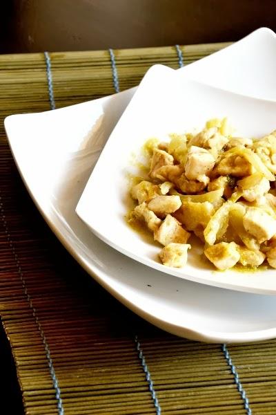 petto di pollo con curry,finocchi e pepe