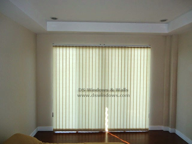 Fabric Vertical Blinds installed at Los Baños, Laguna Philippines