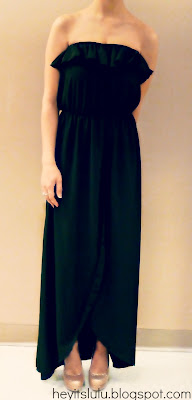Evening Maxi Dress on Heyit Slulu  Outfit Of The Evening  Black Maxi Dress