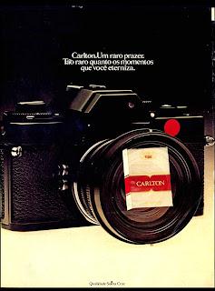 propaganda cigarros Carlton - 1979; propaganda anos 70; história decada de 70; reclame anos 70; propaganda cigarros anos 70; Brazil in the 70s; Oswaldo Hernandez;