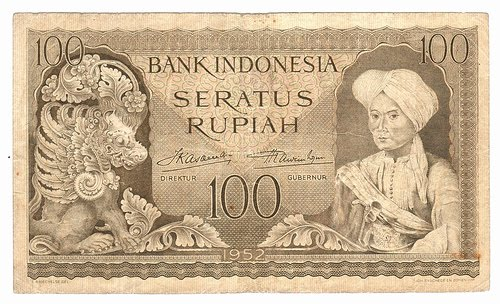 Rp100 tahun 1952