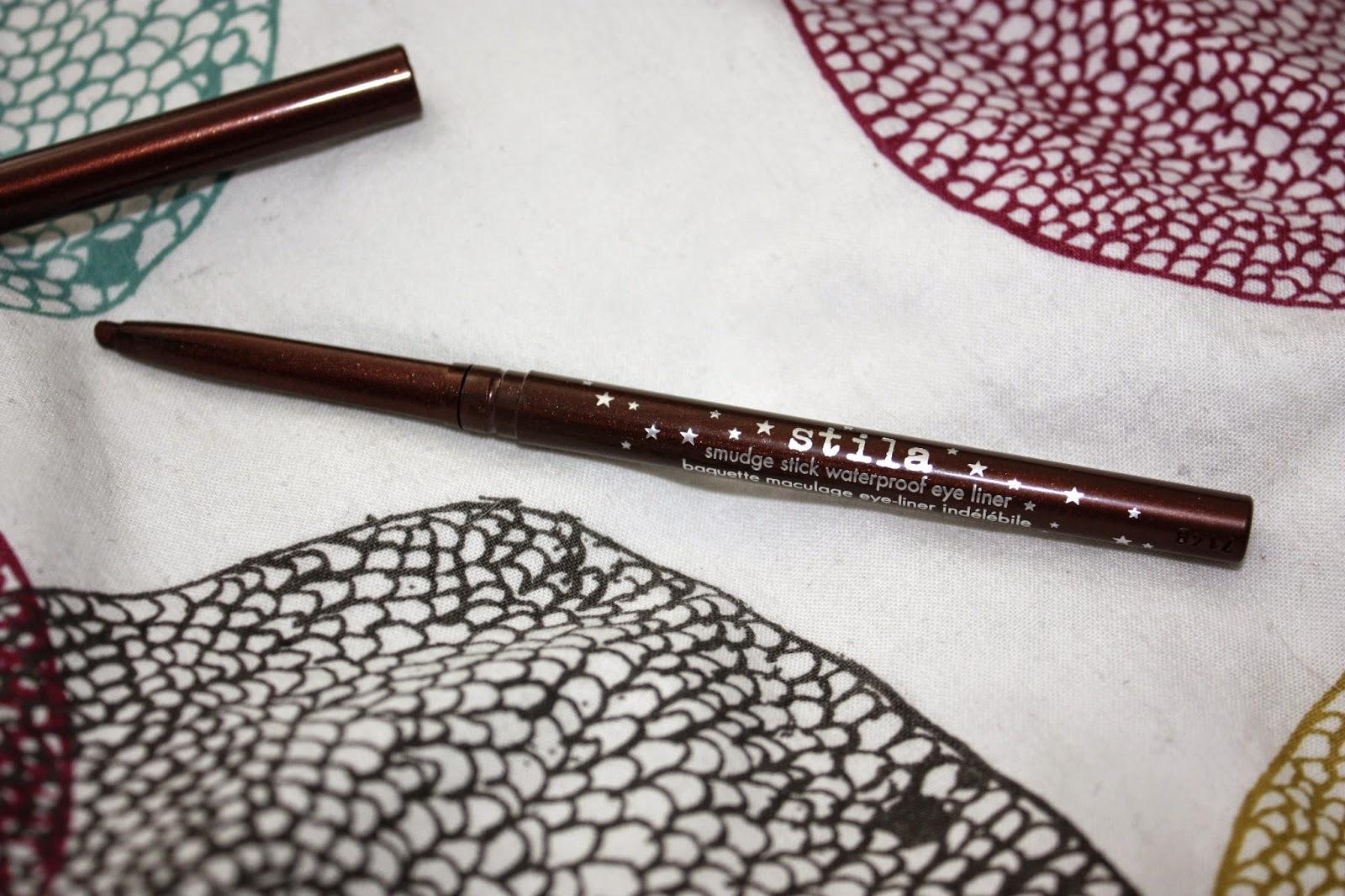 stila smudgestick eyeliner, lionfish, brown pencil