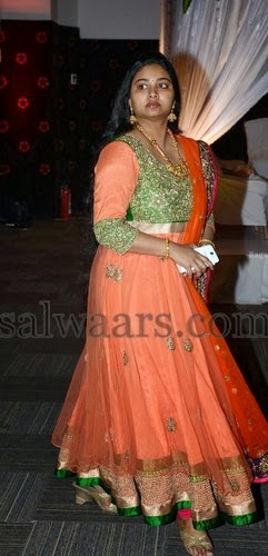 Gopichand Wife Reshma in Long Salwar