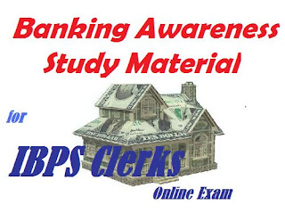Banking Awareness for IBPS Clerks Online Exam