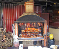 Open wood fired BBQ in Costa Rica