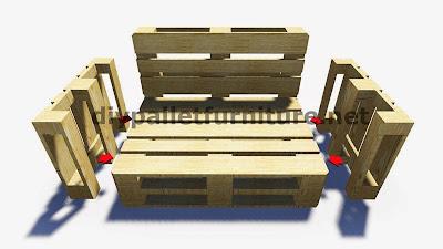 Instrucciones paso por paso y planos - Hacer sillones con palets ...