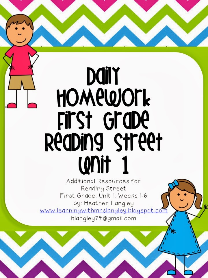 http://www.teacherspayteachers.com/Product/Reading-Street-Homework-Unit-1-First-Grade-933515