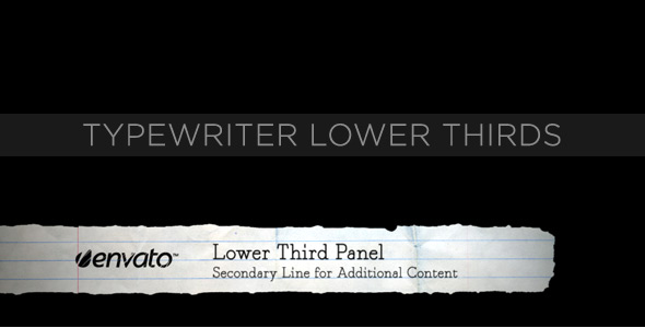 VideoHive Typewriter Lower Thirds