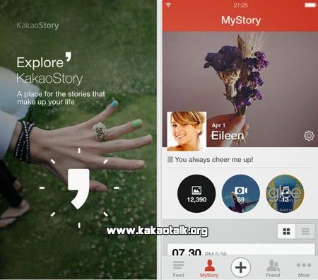 Comparte tus imagenes y fotos con KakaoStory en tu iPhone