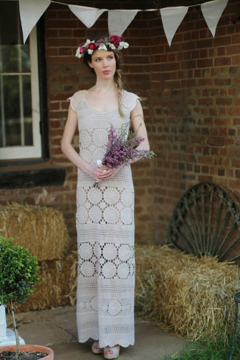 Cotton Crochet Wedding Dress - Affordable Wedding Dresses: Crochet