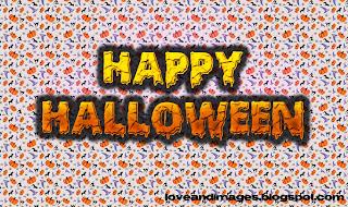 imagen de halloween con murcielagos y calabazas