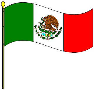 honores a la bandera mexicana: